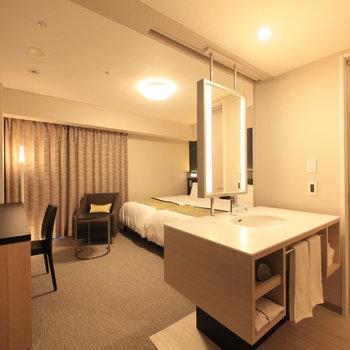 大きな洗面台のあるお部屋です。