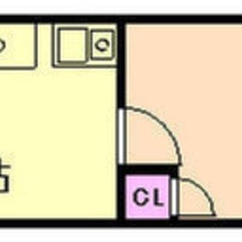 居室は細長め。