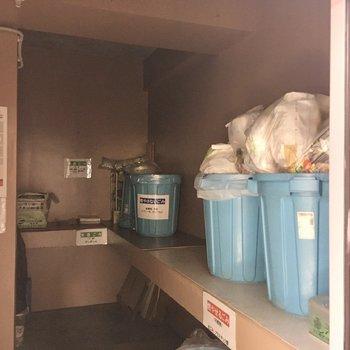 ゴミステーションも同スペースに。