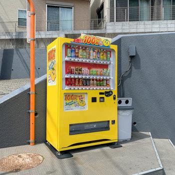 エントランスには100円自販機。「補助輪なしで乗れるようになったじゃん!すごいね!オレンジジュースで乾杯しよう!」なんて親子の会話が聞こえてきそうな。