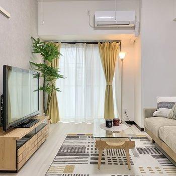 お部屋づくりを楽しめる空間。※家具はサンプルです