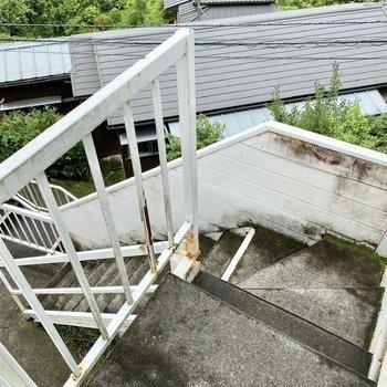 移動は階段になります。