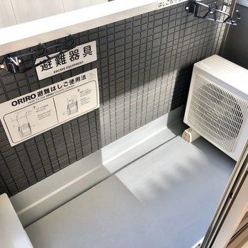 バルコニーは洗濯物を干すには問題ない広さ。ただ、こまめに洗濯を回すのがベターかな。