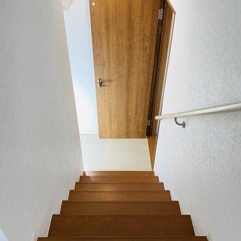その他の水回りは階段下へ。