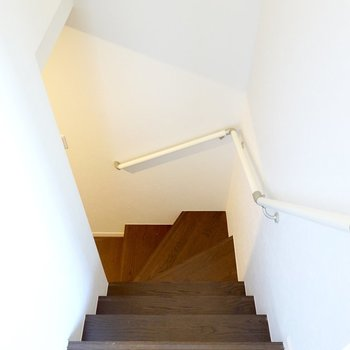 その他の水回りは階段を降りた先に。