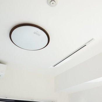 照明は調光調色対応のシーリングライトとライティングレール。お好みのペンダントライトが付けられます。(※写真は2階の反転間取り別部屋のものです)