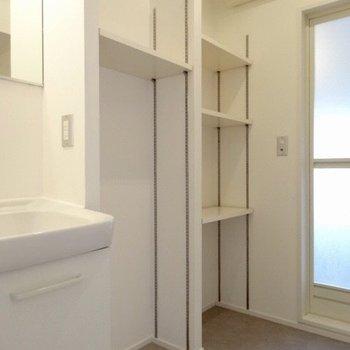 お隣の棚は何かと使えますね。(※写真は11階の同間取り別部屋のものです)