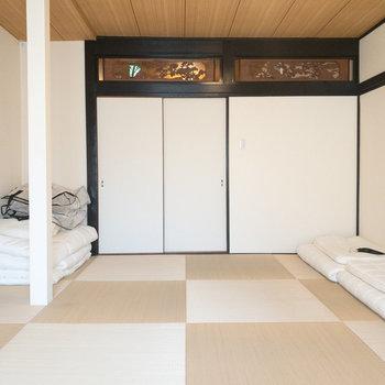 和室1】正方形の畳でモダンさもありますね◎