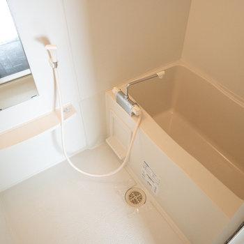 ゆったり浸かれそうな浴槽。