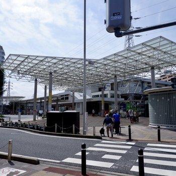 朝霞駅東口の様子です。