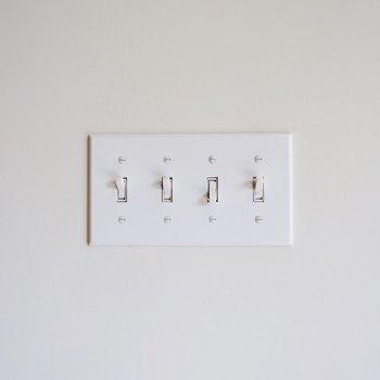 【ディテール】スイッチも個人的にはツボです。
