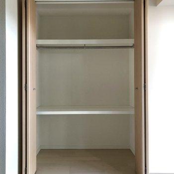 3段あるので収納がしやすそうですね。※写真は3階の同間取り別部屋のものです