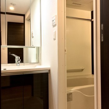 独立洗面台は清潔感を 保ちたくなりますよね※写真は2階の同間取り別部屋のものです