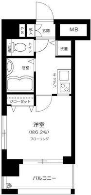 ラグジュアリーアパートメント三田慶大前の間取り