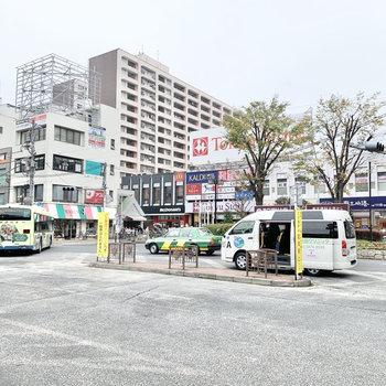 駅前にはチェーン系のお店がありました。