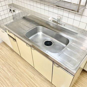 【DK】シンクが広く洗い物が楽々に。