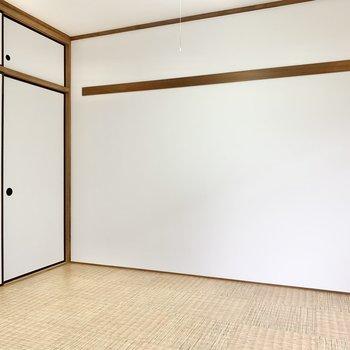 【洋室6帖②】壁には長押しが付いてます。
