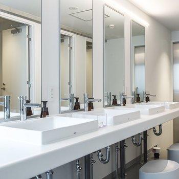 【共用部】水回りは各階の共用スペースをご利用ください。