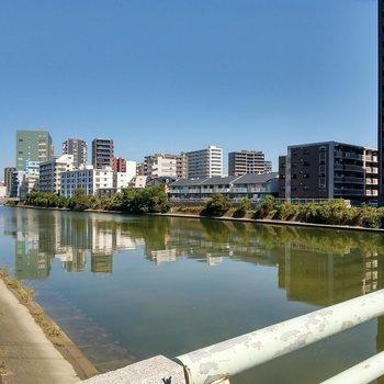 少し行った場所には那珂川が。てくてくお散歩したいです。