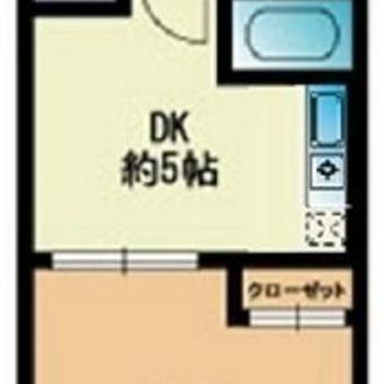 1人暮らし向け、1DKのお部屋です!