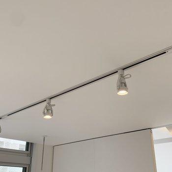 【洋室】照明はスポットライトです。