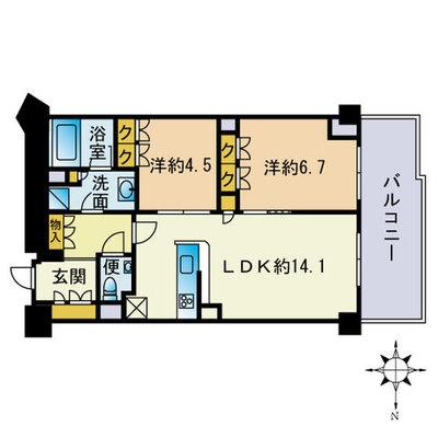 ザ・パークハウス福岡タワーズWESTの間取り