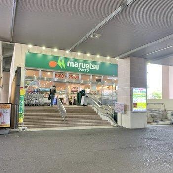 改札目の前にスーパーがあります。