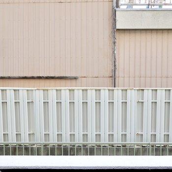 正面は隣家の壁ですが窓が無いので視線は感じずに暮らせそう。