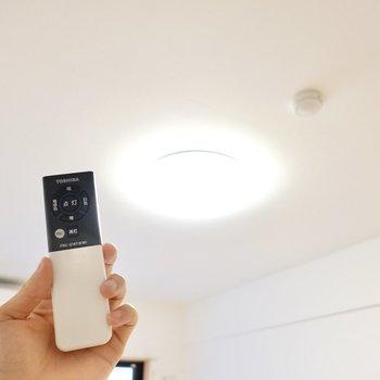 シーリングライトは調光調色対応。温かい色にも爽やかな色にもできます◎