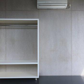 可動式のクローゼットです ※写真は3階の同間取り別部屋のものです