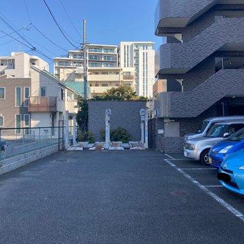 駐車場が敷地内にありました。