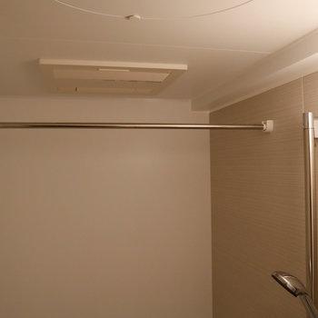 浴室乾燥や暖房が付いています。