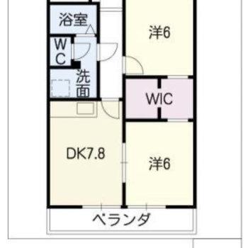 お部屋は2SDKの間取りです。