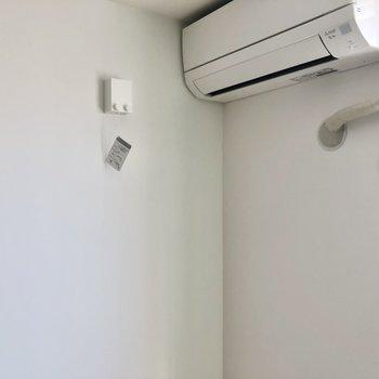 ワイヤーを使って、室内干しも可能です。