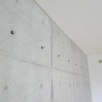 西側の壁にはフックが。ドライフラワーなどを掛けて。