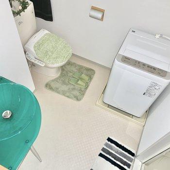 サニタリールームはアメセパタイプ。こまめなお掃除を。 ※4階の類似間取り別室の写真です。
