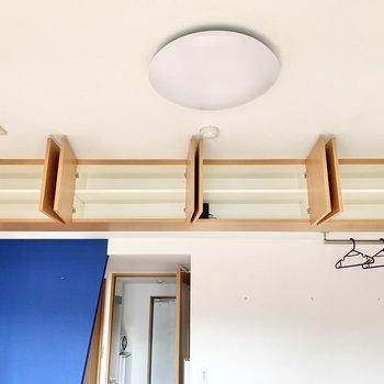 上部には天袋的な収納も。 ※4階の類似間取り別室の写真です。