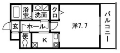 マーレ TAKEI 四番館の間取り