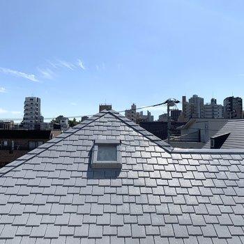 眺望はお向かいさんの屋根。風通しはいいです。