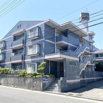 素敵な外観。4階建の鉄筋コンクリート造のマンション。