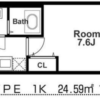 1Kのシンプルなお部屋です。ペットとも一緒に暮らせます!