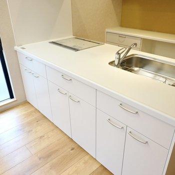 LD側にも収納があるので、よく使う食器類はこちらにしまうと便利。