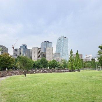 近くには大きな公園もあるので平日でも気軽に家族と散歩に出かけられますよ◎