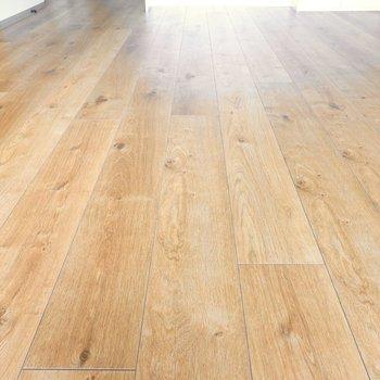 無垢床のようなフローリングなのでラグやインテリアグリーンも似合います。