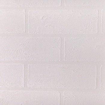 一見シンプルな白い壁はレンガ調になっていました!