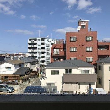 眺めを遮る建物がないのがうれしいなぁ