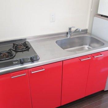 リコピンたっぷりなキッチン♪(※写真は13階の同間取り別部屋、モデルルームのものです)