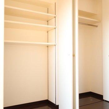 あれこれしまえる容量でしょ◎(※写真は13階の同間取り別部屋、モデルルームのものです)