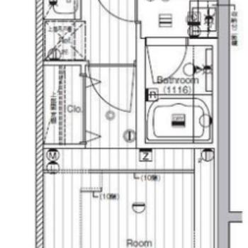居室はシンプルでレイアウトの幅が広がります。