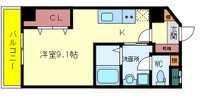 日興桜川ハイツ(H)の間取り
